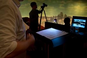 Cyclorama behind scenes